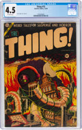 Golden Age (1938-1955):Horror, The Thing! #15 (Charlton, 1954) CGC VG+ 4.5 Off-white pages....