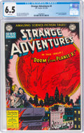Golden Age (1938-1955):Science Fiction, Strange Adventures #2 (DC, 1950) CGC FN+ 6.5 White pages....