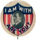 Political:Pinback Buttons (1896-present), Woodrow Wilson: Rare and Graphic Picture Pin.. ...