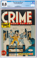 Golden Age (1938-1955):Crime, Crime Does Not Pay #47 (Lev Gleason, 1946) CGC VF 8.0 Off-white pages....