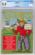 Platinum Age (1897-1937):Miscellaneous, The Comics #3 (Dell, 1937) CGC FN- 5.5 Slightly brittle pages....