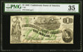 Confederate Notes:1862 Issues, T45 $1 1862 PF-2 Cr. 342 PMG Choice Very Fine 35.. ...