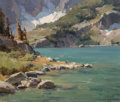 Fine Art - Painting, American:Contemporary   (1950 to present), Clyde Aspevig (American, b. 1951). Indian Peaks Wilderness, Colorado. Oil on canvas laid on board. 10 x 12 inches (25.4 ...
