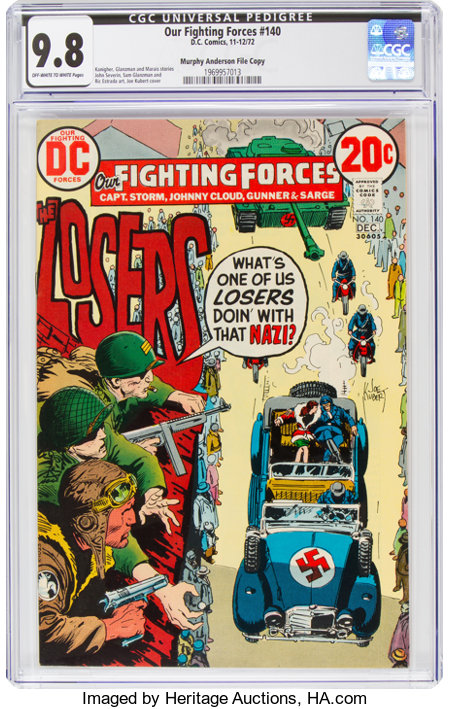 Our Fighting Forces #140 Murphy Anderson File Copy (DC, 1972) CGC NM/MT 9.8 Off-white to white pages....
