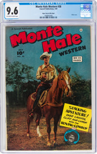 Monte Hale Western #38 Mile High Pedigree (Fawcett Publications, 1949) CGC NM+ 9.6 Off-white to white pages