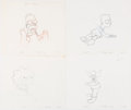 Animation Art:Production Drawing, The Simpsons Original Animation Drawings Group of 10 (Fox, c.1990-2000s). . ... (Total: 10 Original Art)