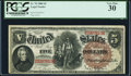 Large Size:Legal Tender Notes, Fr. 70 $5 1880 Legal Tender PCGS Very Fine 30.. ...