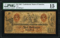 Confederate Notes:1861 Issues, T22 $10 1861 PF-2 Cr. 152 PMG Choice Fine 15.. ...