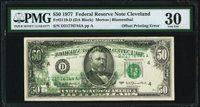Partial Back to Face Offset Error Fr. 2119-D $50 1977 Federal Reserve Note. PMG Very Fine 30