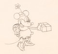 Animation Art:Production Drawing, Building a Building Minnie Mouse Animation Drawing (Walt Disney, 1933). ...