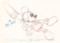Animation Art:Production Drawing, Society Dog Show Mickey Mouse Animation Drawing (Walt Disney, 1939). . ...