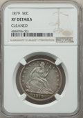 Seated Half Dollars, 1879 50C -- Cleaned -- NGC Details. XF. NGC Census: (1/232). PCGS Population: (10/381). CDN: $600 Whsle. Bid for problem-fr...