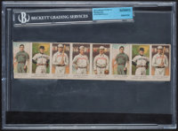 1908-10 E91 American Caramel 8-Card Uncut Strip With Tinker and McGraw