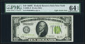 Fr. 2003-B $10 1928C Federal Reserve Note. PMG Choice Uncirculated 64 EPQ