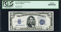 Small Size:Silver Certificates, Fr. 1653 $5 1934C Wide Silver Certificate. PCGS Gem New 66PPQ.. ...