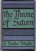 Books:First Editions, S. Fowler Wright The Throne of Saturn First Limited Edition (Arkham House, 1949)....