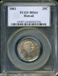 Coins of Hawaii: , 1883 25C Hawaii Quarter MS64 PCGS. ...