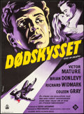 "Movie Posters:Film Noir, Kiss of Death (20th Century Fox, R-1950s). Very Fine+ on Linen.Full-Bleed Danish Poster (24.5"" X 33.25"") K. Wenzel A..."