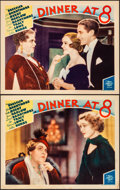Movie Posters:Comedy, Dinner at Eight (MGM, 1933). Very Fine-. Lobby Car...