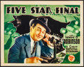Movie Posters:Drama, Five Star Final (First National, 1931). Fine/Very Fine.
