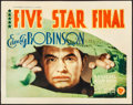 "Movie Posters:Drama, Five Star Final (First National, 1931). Fine+. Title Lobby Card(11"" X 14""). Drama.. ..."