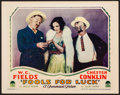 "Movie Posters:Comedy, Fools for Luck (Paramount, 1928). Very Fine-. Lobby Card (11"" X14""). Comedy.. ..."