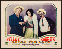 "Fools for Luck (Paramount, 1928). Very Fine-. Lobby Card (11"" X 14""). Comedy"