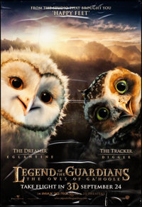 "Legend of the Guardians: The Owls of Ga'Hoole (Warner Brothers, 2010). Rolled, Fine/Very Fine. Bus Shelters (4) (47""..."