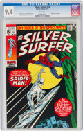Bronze Age (1970-1979):Superhero, The Silver Surfer #14 (Marvel, 1970) CGC NM 9.4 White pages....