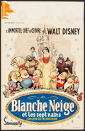 "Movie Posters:Animation, Snow White and the Seven Dwarfs (Discibel, R-1962). Folded, Fine+.Belgian (14"" X 21.5""). Animation.. ..."