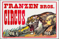 "Movie Posters:Miscellaneous, Franzen Brothers Circus (c.1970s). Rolled, Very Fine. Circus Poster(42"" X 28""). Miscellaneous.. ..."