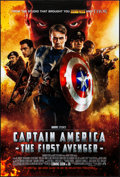 "Movie Posters:Action, Captain America: The First Avenger (Paramount, 2011). Rolled, Very Fine+. One Sheet (27"" X 40"") DS, Advance, 3D Style. Actio..."