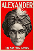 Movie Posters:Miscellaneous, Alexander: The Man Who Knows (1920). Rolled, Very Fine-.