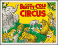 Movie Posters:Miscellaneous, Clyde Beatty - Cole Cros. Circus (1958). Very Fine- on Lin...