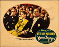 """Movie Posters:Romance, Now, Voyager (Warner Brothers, 1942). Fine/Very Fine. Autographed Lobby Card (11"""" X 14""""). Romance.. ..."""