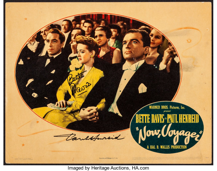 Now, Voyager (Warner Brothers, 1942)  Fine/Very Fine  Autographed Lobby  Card (11