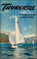 """Movie Posters:Miscellaneous, Lake Thun, Switzerland (c.1950s). Rolled, Very Fine-. German TravelPoster (25"""" X 40""""). Miscellaneous.. ..."""