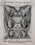Political:Posters & Broadsides (1896-present), Hoover & Curtis: Large Multigate Poster from Pennsylvania.. ...