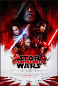 "Movie Posters:Science Fiction, Star Wars: The Last Jedi (Walt Disney Studios, 2017). Rolled, Very Fine/Near Mint. One Sheet (27"" X 40"") DS, Advance. Scienc..."