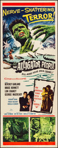 "Movie Posters:Horror, The Alligator People (20th Century Fox, 1959). Folded, Very Fine-.Insert (14"" X 36""). Horror.. ..."