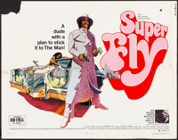 "Super Fly (Warner Bros., 1972). Folded, Fine+. Half Sheet (22"" X 28"") Tom Jung Artwork. Blaxploitation"