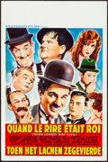 """Movie Posters:Comedy, When Comedy was King (Standard Films, 1960). Very Fine-. Belgian(14.5"""" X 22""""). Comedy.. ..."""