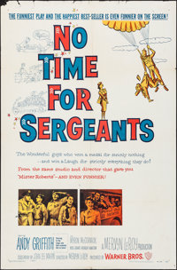 """No Time for Sergeants & Other Lot (Warner Brothers, 1958). Folded, Fine/Very Fine. One Sheets (2) (27"""" X 41&quo..."""