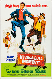 Never a Dull Moment & Other Lot (Buena Vista, 1968). Folded, Very Fine. Autographed One Sheet & One Sheets (3) (...