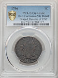 Large Cents, 1796 1C Reverse of 1797, S-113, B-41, R.5 -- Excessive Corrosion -- PCGS Genuine. VG Details....
