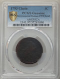 Large Cents, 1793 1C Chain, AMERICA, S-2, B-2, High R.4 -- Environmental Damage -- PCGS Genuine. Poor/Fair Details....