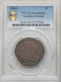 Large Cents, 1800 1C NC-3, B-16, High R.5 -- Scratch -- PCGS Genuine. Good Details....