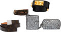 Luxury Accessories:Accessories, Set of Five: Bottega Veneta Wallet and Pochette, Louis Vui...