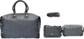Luxury Accessories:Bags, Goyard Set of Three: Gray Goyardine Boeing 45 Duffle Bag, Crossbody Bag & Cosmetic Bag. Condition: 1. See Extended Con... (Total: 3 Items)
