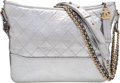 "Luxury Accessories:Bags, Chanel Silver Quilted Aged Calfskin Leather Medium Gabrielle Hobo Bag. Condition: 2. 10"" Width x 8.5"" Height x 4"" Dept..."